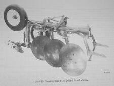 Ih Mccormick 34 F301 Rollover 2 Way Disc Plow Manual 2pt Fast Hitch Farmall