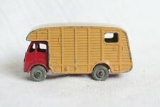 VINTAGE MATCHBOX LESNEY # 35A E.R.F. MARSHALL HORSE BOX TRUCK DIECAST RED/TAN