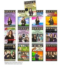 13-DVD American Sign Language Training Set - Learn ASL words, idioms & sentences
