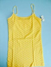 Aeropostale Ladies Teen Cami Sleeveless Top Spaghetti Straps Yellow Medium New