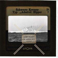 Orig. Dia 5x5cm Litofa Schwerer Kreuzer Admiral Hipper