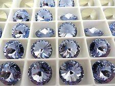 6 Provence Lavender Foiled Swarovski Rivoli Stone 1122 12mm