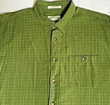 Orvis Sporting Traditions Green Multi Color Plaid Check LS Shirt Men's Size XL