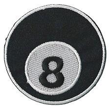 Patch écusson patche 8 ball eight huit billiard thermocollant brodé