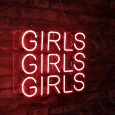 17x14 Pink GIRLS GRILS GIRLS Poster Artwork Bedrom Neon Sign Light Pub Club