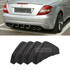 Bumper Diffuser Molding Point Garnish Lip Under Splitter Black for MERCEDES BENZ