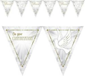 GOLD Confirmation Pennant  Bunting Flag Banner Party Decorations communion