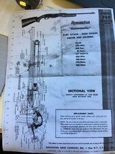 Remington Model 760 Game master Parts Breakdown 1960 Copy