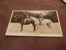 Photochrom Postcard- British Royal Family- Princesses Elizabeth & Margaret
