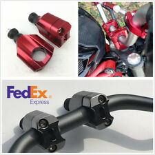 """Pair Handlebar Risers Mount Clamp Bracket Red For 1 1/8"""" Motorcycle ATV Scooter"""