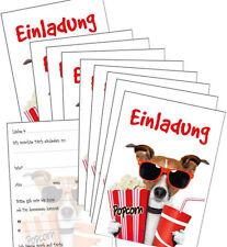 10 lustige Einladungskarten Kindergeburtstag Kino, Geburtstagseinladungen Kinder