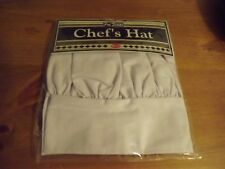 New White Chef'S Hat By Ritz Adjustable Osfa Halloween Costume Nip