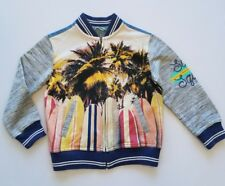 "Cat & Jack ""Surf Squad"" Long Sleeve Jean Jacket Tropical Palms ▪Boy's XS (4-5)"