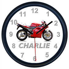 Personalised DUCATI 916 Classic Motorcycle Wall Clock