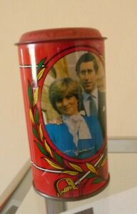 Vintage 1981 Charles & Diana Royal Wedding Tin Money Box - Nice Display Piece!