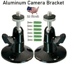 "2pcs Twist-to-Tighten 2.7"" Black Aluminum Cctv Camera Mounting Bracket (E202)"