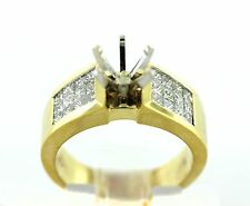 1.35 CT Natural diamond semi mount ring/setting only VS1/G 18K solid Yellow Gold