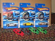 Hot Wheels Nice Lot of 7 Porsche Carrera GT Variation 2006 First Editions FTE