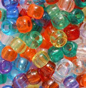 245g App. 1000 Transparent Pony Beads ,FOR DUMMY CLIPS,BRAIDING choice of colour