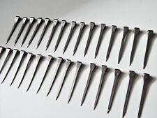 Lot de 30 anciens clous en fer forgé 60 mm tête carré de 8X7 mm