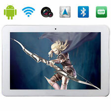 "10.1"" Inch 16GB Android 4.4 3G Quad Core White Tablet PC HD Dual Camera WIFI BT"