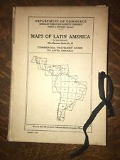 (1920) 30 VINTAGE LATIN AMERICA Department of Commerce Maps Book Slip-CASE Rare