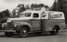 Vintage Falstaff Beer Truck PHOTO Bar Sign Ad St Louis Brewery 1942
