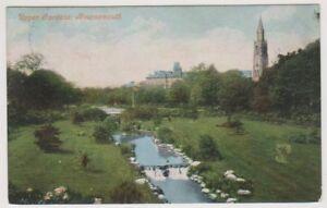 Dorset postcard - Upper Gardens, Bournemouth - P/U (A1087)