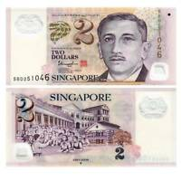 Pick 46 Singapure / Singapore 2 Dollar 2013 Unc. polymer / 4521289vvv