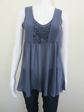 MAX Top Size 8 Blue Sleeveless Beaded BUY 4 or more items for FREE POST