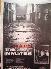INMATES First Offence 1979 UK Poster size Press ADVERT 16x12 inches
