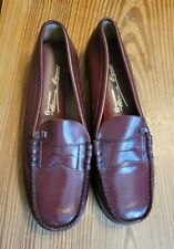 Vintage Women's Eitienne Aigner Burgundy Penny Loafers Nwot 7