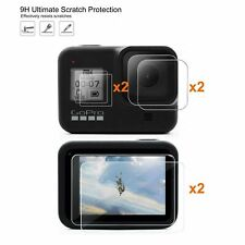 6Pc Tempered 9h Glass Screen & Lens Protector Protective For GoPro Hero 8 Black