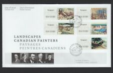 bq. CANADIAN PAINTERS =Landscapes=  5 VENDING KIOSK stamps OFDC, FDC Canada 2017