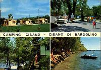 Cisano Di Bardolino Camping Platz Cartolina Italiana Italien Postkarte gelaufen