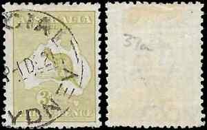 Australia, 1915, ROO, SG37d, 3d, DIE II , Wmk W6 - USED