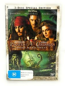 Pirates of the Caribbean: Dead Man's Chest (DVD, 2006) Johnny Depp R4 Free Post