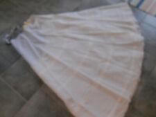Jupon blanc crinoline cerceaux mariage