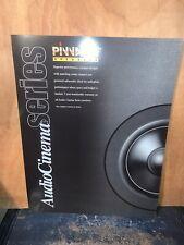 Pinnacle Audio Cinema Series Speaker Guide,Dealer Brochure Spec. Sheet.