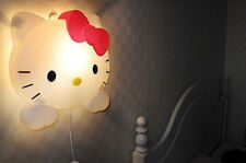 2017 New Fashion Style Hello Kitty Night Lights Cute Wall Lamp Home Decorations