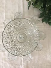 VINTAGE CRYSTAL PUNCH BOWL WITH 9 CUPS