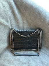 Real Leather Crocodile Effect Chain Bag. Chanel Style