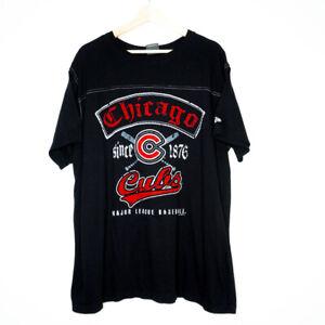 New Era Chicago Cubs MLB Baseball 2011 Mens Black T-Shirt Size 2XL