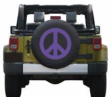 "32"" Peace Sign Tire Cover - Purple - Jeep Wrangler JK - USA"