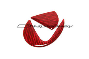 For 06-13 Lexus IS Red Carbon Fiber Rear Trunk Lid Emblem Logo Insert Sticker