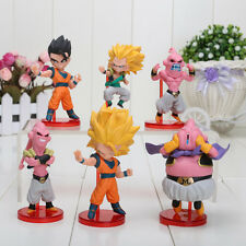 6pcs/set Dragon Ball Z 8cm DBZ Son Gohan Son Goku Majin Buu Figure New