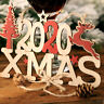 HOT 2020 Xmas 3D Wooden Ornament Hanging Pendant Christmas Tree Home Decoration