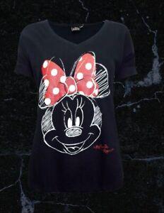 BNWT Disney Black T-Shirt With Minnie Mouse Detail Size XXXL ( Uk 22 )