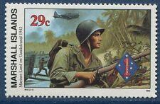 Marshall Islands 1992 World War 2 WW II Scott 320 Marines to Guadalcanal W47 NH