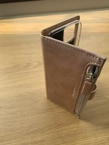 Leather Zipper Purse Wallet Phone Case Flip Cover For iPhone 12 Pro